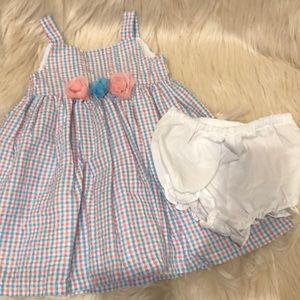 Baby gingham print dress